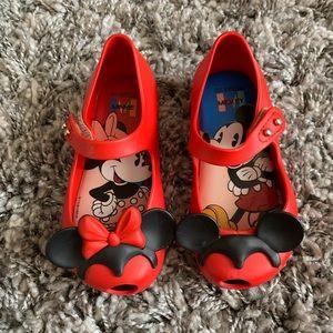 Mini Melissa Minnie & Mickey Ultra Girl Shoe sz 7